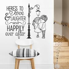 Love and Laughter Couple Wall Sticker Decal Art Inspirational Vinyl