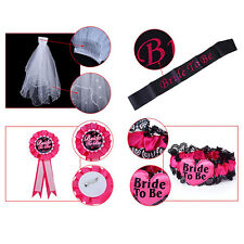 Bride To Be Hens Night Party White or Black Veil Badge