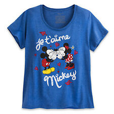 NWT Disney Store Women Minnie and Mickey Mouse T Shirt Tee Top M L XL 2XL 4XL