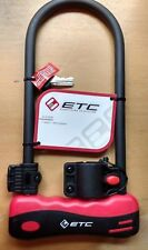 ETC 12mm Bike Bicycle Security Anti Theft D Lock U Lock Shackle 2 Sizes