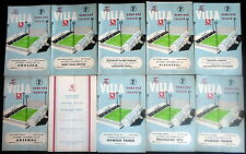 Aston Villa  home programmes   1960-1965   all listed