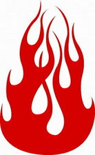 DECAL FLM #15 HOOD FLAMES BURNING HOT FIRE CAR TRUCK SUV SEMI NEW VINYL GRAPHIC