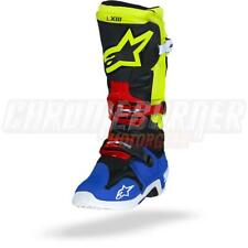 Alpinestars Tech 10 Black Yellow Fluo Blue Red Motorcycle Boots, Tech-10, NEW!