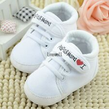 Fashion Infant Toddler Baby Soft Sole Antiskip Canvas Sneaker Crib Shoes LM01