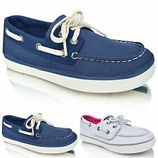 Girls Boys Boat Deck Lace Up Loafers Casual Moccasins Kids Party Shoes Pumps NEW