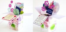 Handmade Mother's Day greeting card in pop up exploding box card-Free ship USA