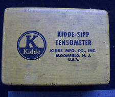 Used Kidde - Sipp Tensometer in Wooden Box USA
