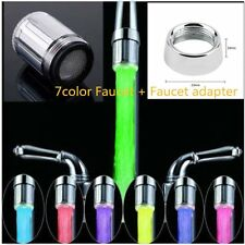 LED Water Faucet Stream Light 7 Colors Changing Glow Shower Stream Tap Univer BX
