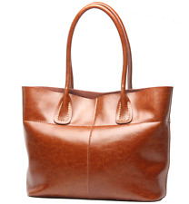 New Women's Handbag Fold Genuine leather Casual tote briefcase shoulder bags