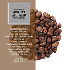 100% Best Sumatra Gayo Coffee Beans Fresh Roasted Whole Beans Ground 2LBS Bags
