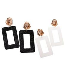 Hiphop Punk Rock Exaggerate Popular Rectangle Clubwear Earrings