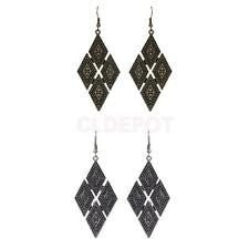 Novelty Rhombus Drop Dangle Stud Earrings Elegant Geometry Fashion Ornaments