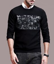 Mens Long Sleeve Shirt Crew Neck Floral Guard Garments Pullovers Tee M L XL XXL