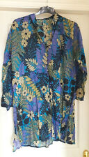 multi-coloured beach  - swimsuit cover up  / oversized tunic top  size L - 18 ?