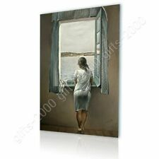 Alonline Art - CANVAS (Rolled) Woman At The Window Salvador Dali Oil Paints