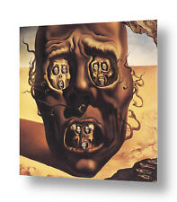 Alonline Art - CANVAS (Rolled) The Face Of War Skull Salvador Dali Oil Paint