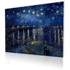 Alonline Art - CANVAS (Rolled) Starry Night Over The Rhone Vincent Van Gogh