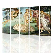Alonline Art - CANVAS (Rolled) The Birth Of Venus Sandro Botticelli 5 Panels