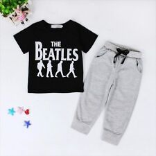 2pcs Toddler Kids Baby Boy T-shirt Tops+Long Pants Trousers Clothes Outfit Set