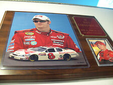 Dale Earnhardt Jr. 12 inch by 15 inch wooden plaque with photo,card , engraving