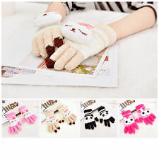 Colorful Magic Winter Cute Cats Women Touch Screen Glove Texting Smartphone Knit