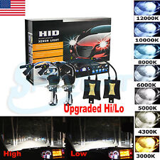 Upgraded 55W Xenon HID Conversion Kit Headlights H4 9004 9007 Hi/Lo Beam Bulbs