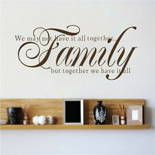 Vinyl Warm Home Wall Stickers Family Motivational Words Phrases Quote Decal