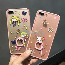 Cute Pink Matte Sailor Moon Magic Wand Rings Case Cover for iPhone 7 7 Plus 6 6S