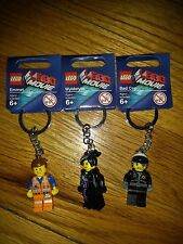 LOT OF 3 LEGO MOVIE CHARACTERS KEYCHAINS  BRAND NEW