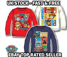 Boys Long Sleeve Paw Patrol T Shirts T-shirts Kids toddler 2 3 4 5 6 years Off W