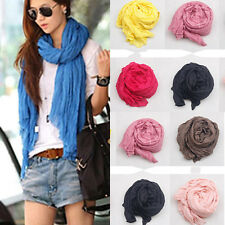 Nice New Women Long Big Crinkle Voile Soft Scarf Wrap Shawl Stole More Chioces