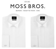 Moss Bros Mens White Dress Wedding Shirts Slim or Regular Fit Various Styles