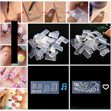 Clear DIY 3D Acrylic Mold Nail Art Tips Decoration Silicon Mould Manicure Tool