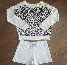 New Girls ex River Island Animal Print Pyjamas Nightwear Shorts Age 5-12 Yrs