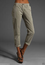J BRAND INEZ CROPPED CHINO LOW-RISE SLIM FIT COTTON LIGHT SAGE PANTS JEANS NWT