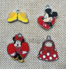 Lot Mixed Mickey Minnie Enamel Metal Charm Pendants DIY Jewelry Making Z417