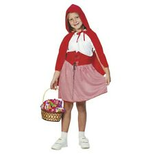 Girls Red Riding Hood Fancy Dress Costume Child's Kids World Book Day Outfit
