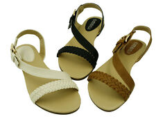 New Ladies' Braided Gladiator Flat Sandal T-Strap Thong Sandals Only $12.99