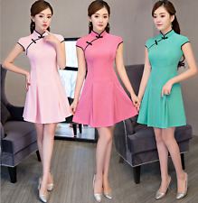 new!Collar short qipao dress Fashion girl wind cultivate one's morality dress