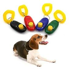 Dog Pet Puppy Cat Training Clicker Click Button Trainer Obedience Aid Wrist New