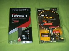 Stiga PRO CARBON & TITAN Table Tennis Paddle * Lot of 2 NEW Ping Pong Racquet