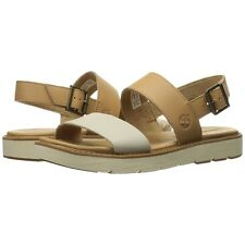 Womens Timberland Sandals Bailey Park Slingback Beige Leather Shoes NEW