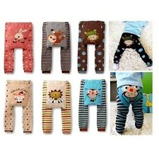 Infant Baby Toddler Boy Girl Cotton Animal Print Trousers Soft Leggings PP Pants