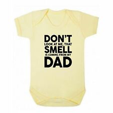 FLOSO Baby Boys/Girls That Smell Is Coming From My Dad Short Sleeve Bodysuit