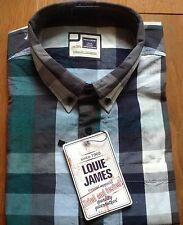 LOUIE JAMES KINGSIZE MENS BLOCK CHECK SHIRT 2XL