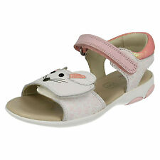 CLARKS INFANT GIRLS WIGGLE TAIL RIPTAPE FASTENING CASUAL FLAT SUMMER SANDALS