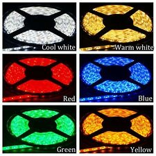 5M 3528 12V SMD RGB LED Waterproof Flexible Tape Rope Strip Light For Xmas Party