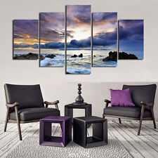 HD Print on Canvas Painting Home Decoration Wall Art sea landscape 5pcs