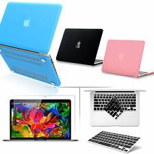"""[Pure Color] Rubberized Matte Case w/Keyboard Cover for Macbook Pro 13"""" 13.3inch"""