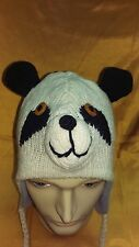 Hand Knitted Animal 100% Woolen Hat with Fleece Lining for Kids ~ Made In Nepal